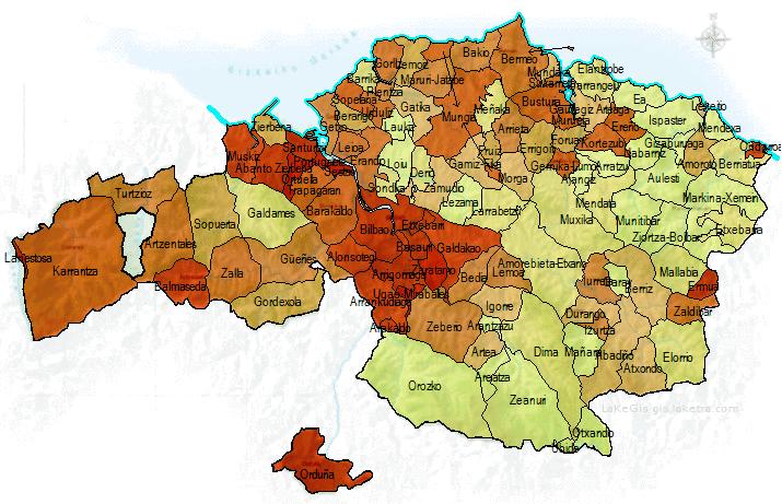 Ndice de igualdad de g nero municipios de bizkaia mapas for Busqueda de telefonos por calles